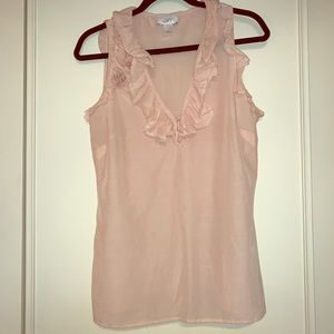Ann Taylor Loft Blush Pink Sz M Sleeveless Blouse